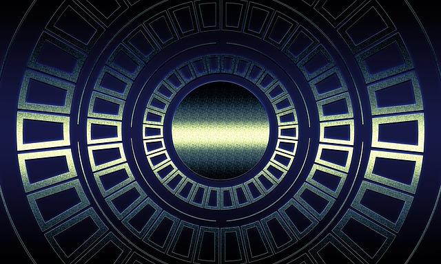 Techno, Geometry, Futuristic, Pattern, Grid, Digital