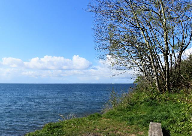 Sea, Baltic Sea, Denmark, Fyn, Beautiful View, Bench