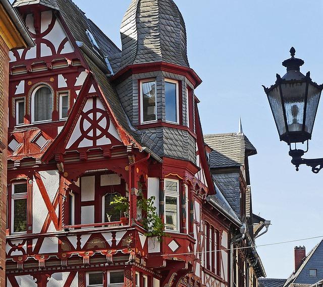 Old Town, Truss, Facade, Gable, Lantern