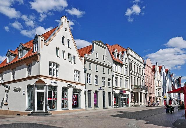Gabled Houses, Wismar, Pedestrian Zone, Altwismar Road