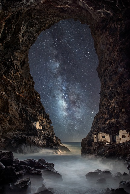 Star, Sea, Astronomy, Cosmos, Galaxy, Milky Way, Cave