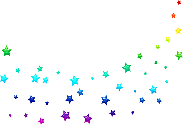 Colorful Stars, Star, Scatter, Galaxy, Space, Universe