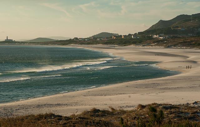Spain, Galicia, Beach, Cape, Port