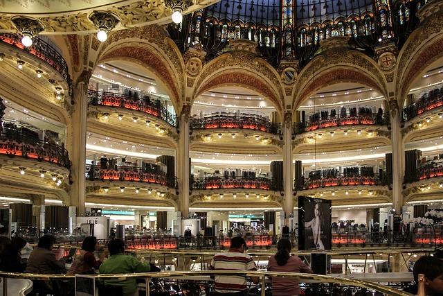 Gallery Lafayette, Department Store, Paris