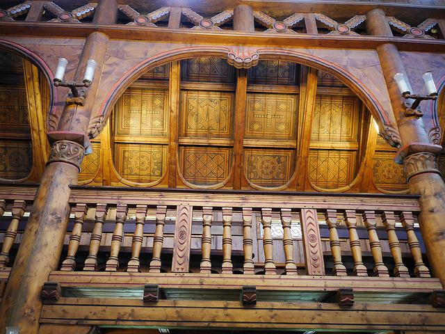 Stave Church, Gallery, Close Up, Timber Construction