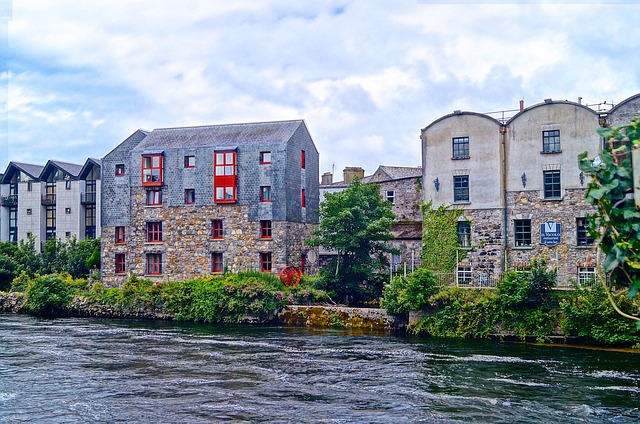 Home, Architecture, Waters, Building, Summer, Galway