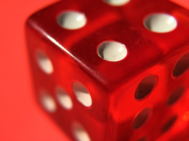 Dice, Game, Gambling, Rounded Corners, Red, Dots, 6