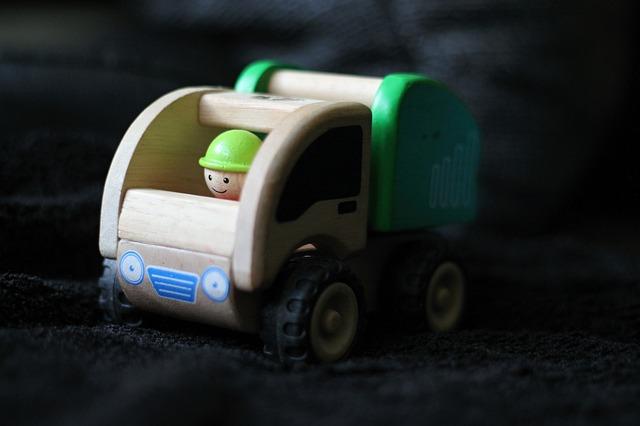 Toy, Children, Auto, Toy Car, Dustman, Garbage Truck