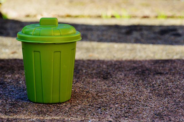Garbage Can, Garbage, Bucket, Green, Waste Bins
