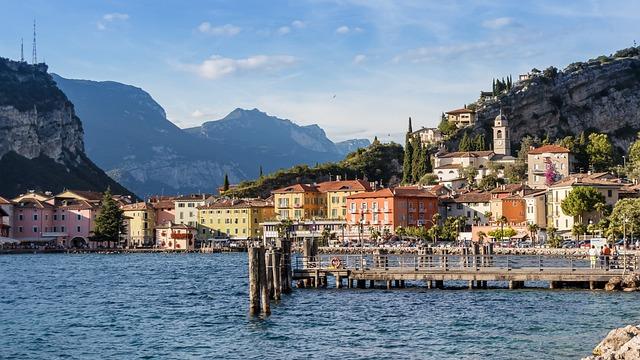 Lake, View, Mountains, Garda, Italy, Outlook, Waters