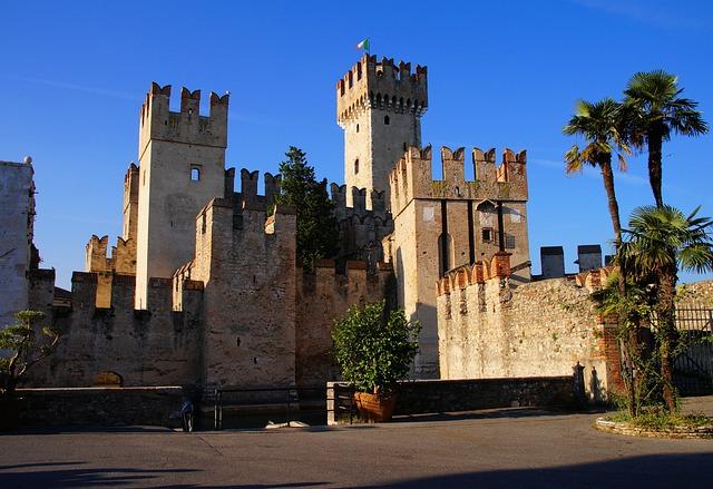 Sirmione, Garda, Italy, Castle, Skaligerburg