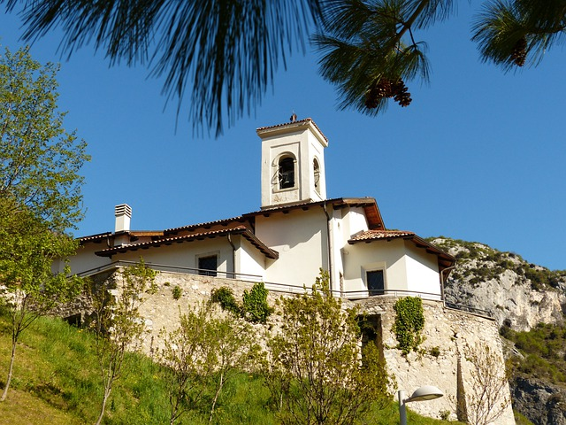 Church, Steeple, Pregasina, Village, Garda