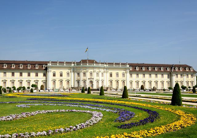 Castle, Ludwigsburg Germany, Baroque, Park, Garden