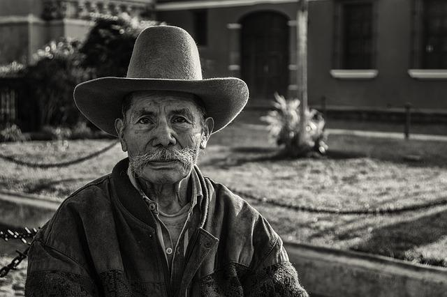 People, Guatemala, Man, Black And White, Garden