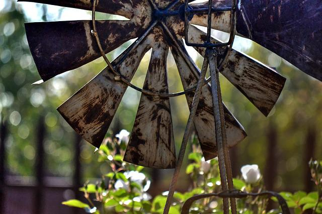 Windmill, Garden, Rusted, Decorative