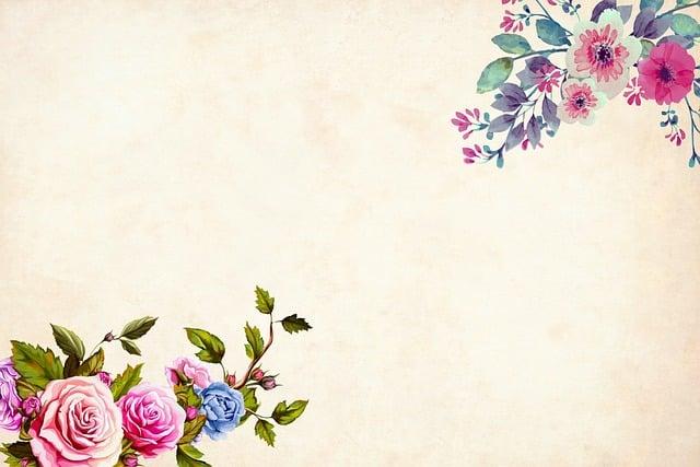Flower, Background, Floral, Border, Garden Frame