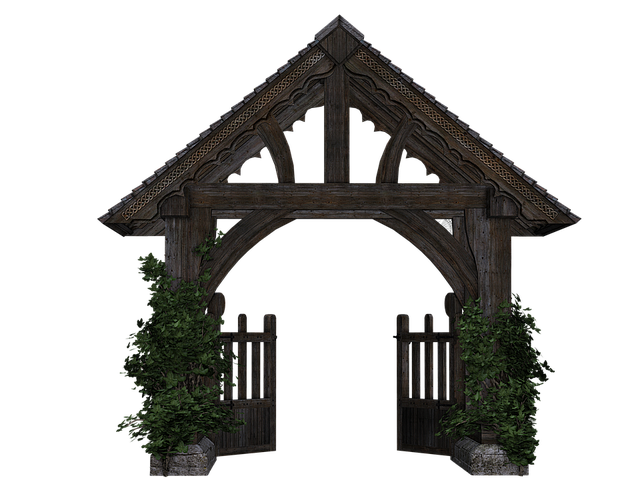 Goal, Garden Gate, Wooden Gate, Passage, Isolated