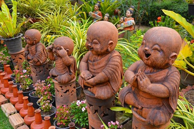 Statues, Garden Gnomes, Gnome, Garden, Decoration