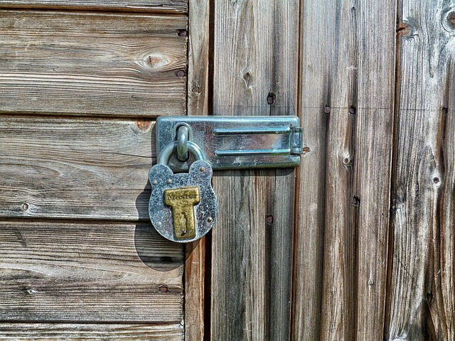 Garden Shed, Latch, Lock, Building, Storage, Wood