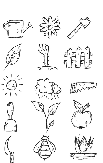 Garden, Sun, Summer, Icon, Nature, Fields, Tree, Green