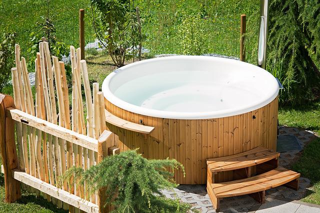 Whirlpool, Hot Tub, Garden, Summer, In The Garden