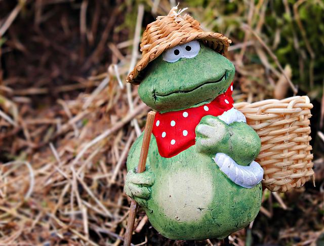 Gardener, Grass, Garden, Gardening, Spring, Frog