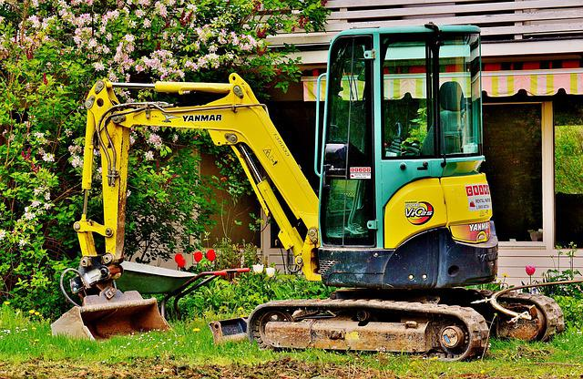 Excavators, Garden, Gardening, Machine, Backhoe Bucket