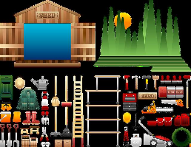 Shed Paraphernalia, Shed Tools, Wooden, Gardening