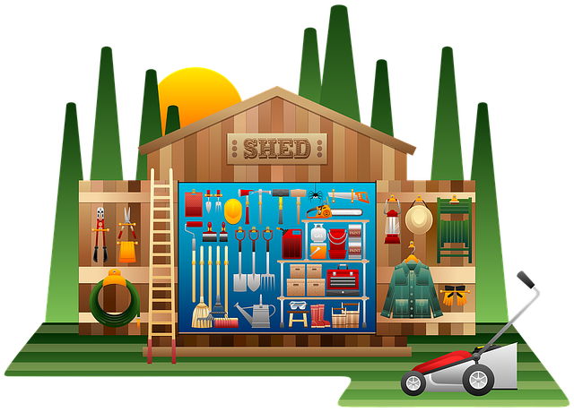 Shed, Shed Tools, Wooden, Gardening, Gardening Tools