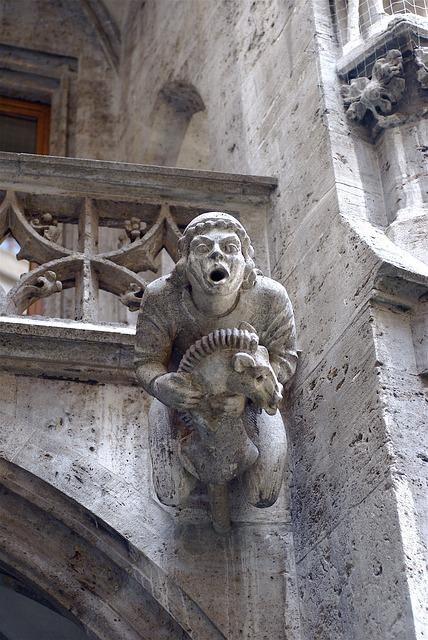 Gargoyle, Munich, Architecture, Gothic, Europe