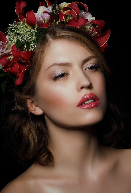 Woman, Person, Flowers, Wreaths, Garland, Floral