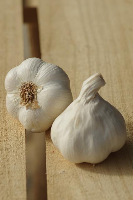 Garlic, Garlic White, Garlic Grown, Food, Harvest