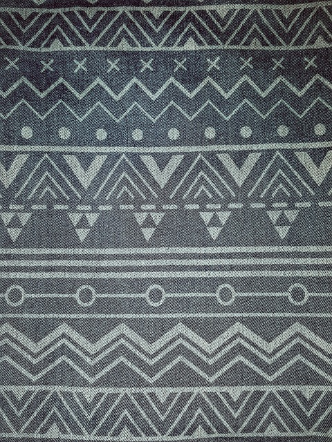 Denim, Pattern, Tribal, Garment, Fabric