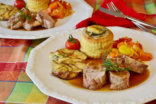 Pig, Fillet, Pork Tenderloin, Vegetables, Garnish Sauce