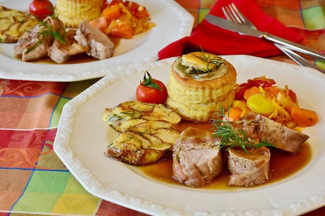Pig, Fillet, Pork Tenderloin, Vegetables, Garnish Sauce