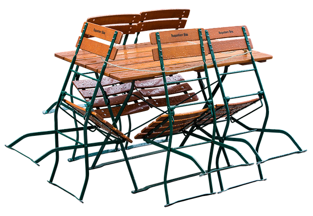 Beer Garden, Folding Chairs, Gastronomy, Table, Seat