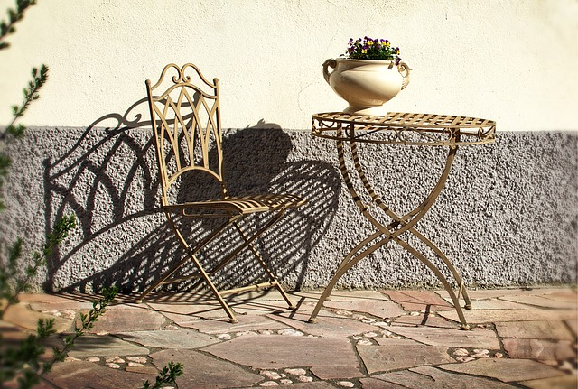 Chair, Table, Wrought Iron, Chairs, Metal, Gastronomy