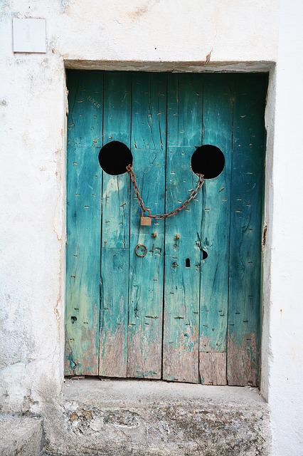 Antique, Dirty, Door, Entrance, Gate, House, Iron, Lock