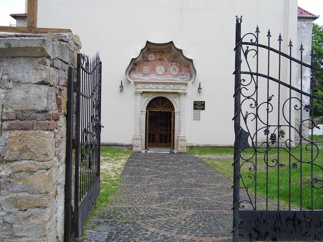 Ukraine, Church, Vintage, Gate, Door