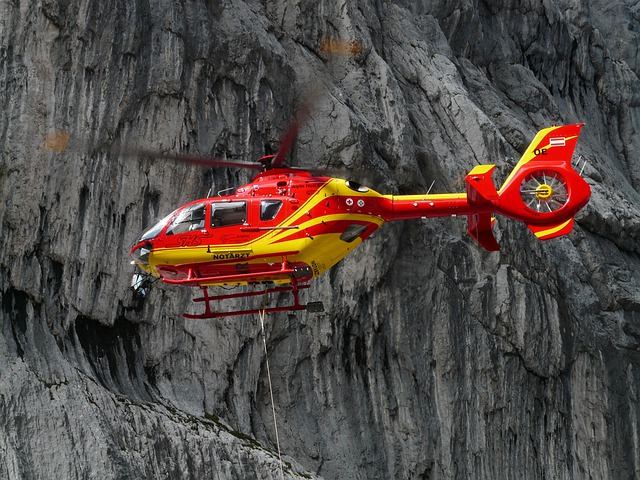 Rescue Helicopter, Colours, Red, Yellow, Gaudy