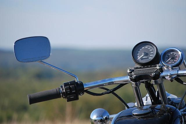 Motorcycle, Harley, Sportster, Mirror, Gauge
