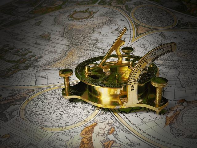 Sundial, Mobile Sundial, Gauge, Technology, Brass