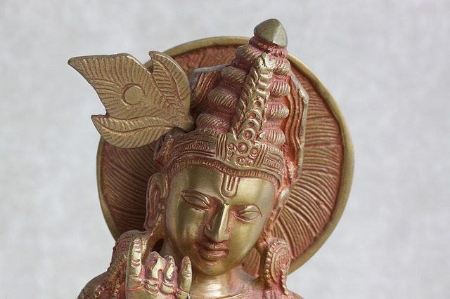 Krishna, Sculpture, Brass, Cast, Gavinda, Good Shepherd