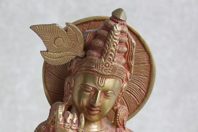 Krishna, Sculpture, Brass, Cast, Gavinda, Good Shepherd