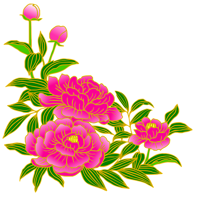 Peony, Pink, Gay, Flowers, Summer, Japanese Style