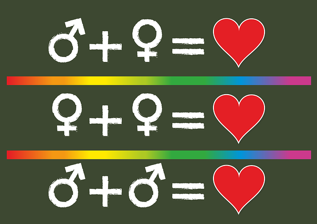 Before, Love, Gay, Lesbian, Man, Woman, Symbol, Heart