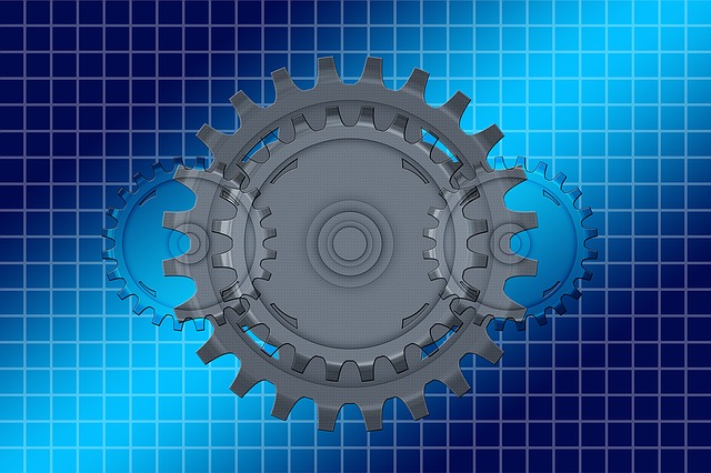 Mechanics, Gear, Gears, Blue, Way Of Thinking