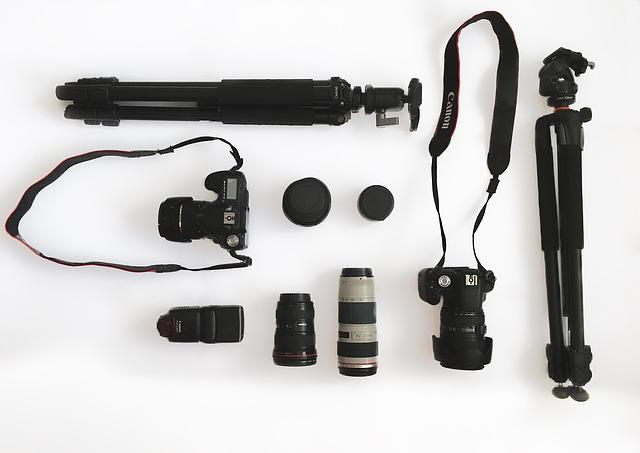 Camera, Gear, Lens, Equipment, Professional, Tripod