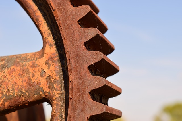 Gear, Metal, Stainless, Technology, Machine, Old, Macro