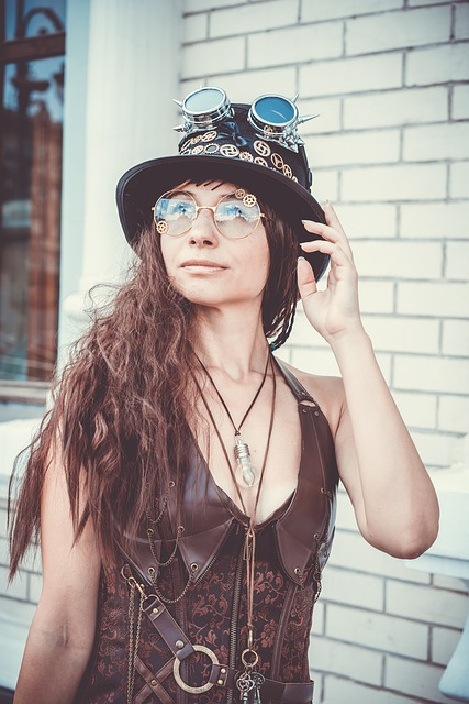 Steampunk, Cosplay, Parabank, Glasses, Corset, Gears